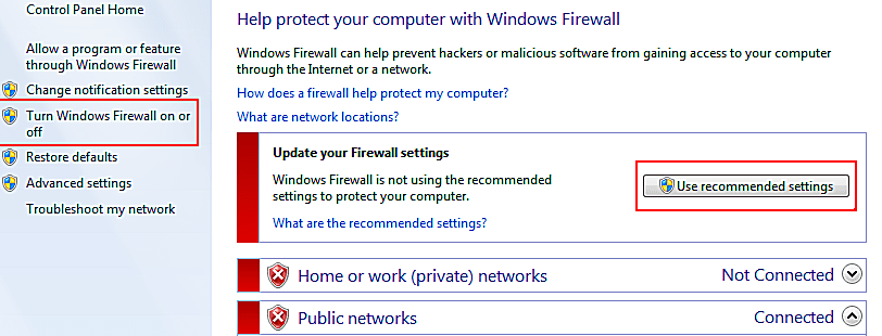 Finding and Using the Windows 7 Firewall