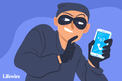 Illustration showing a burglar trying to hide their number.