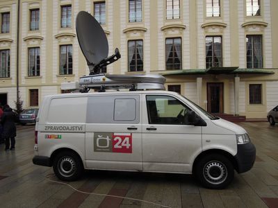 Czech live TV broadcast van