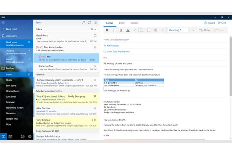 Mail for windows 10 screenshot