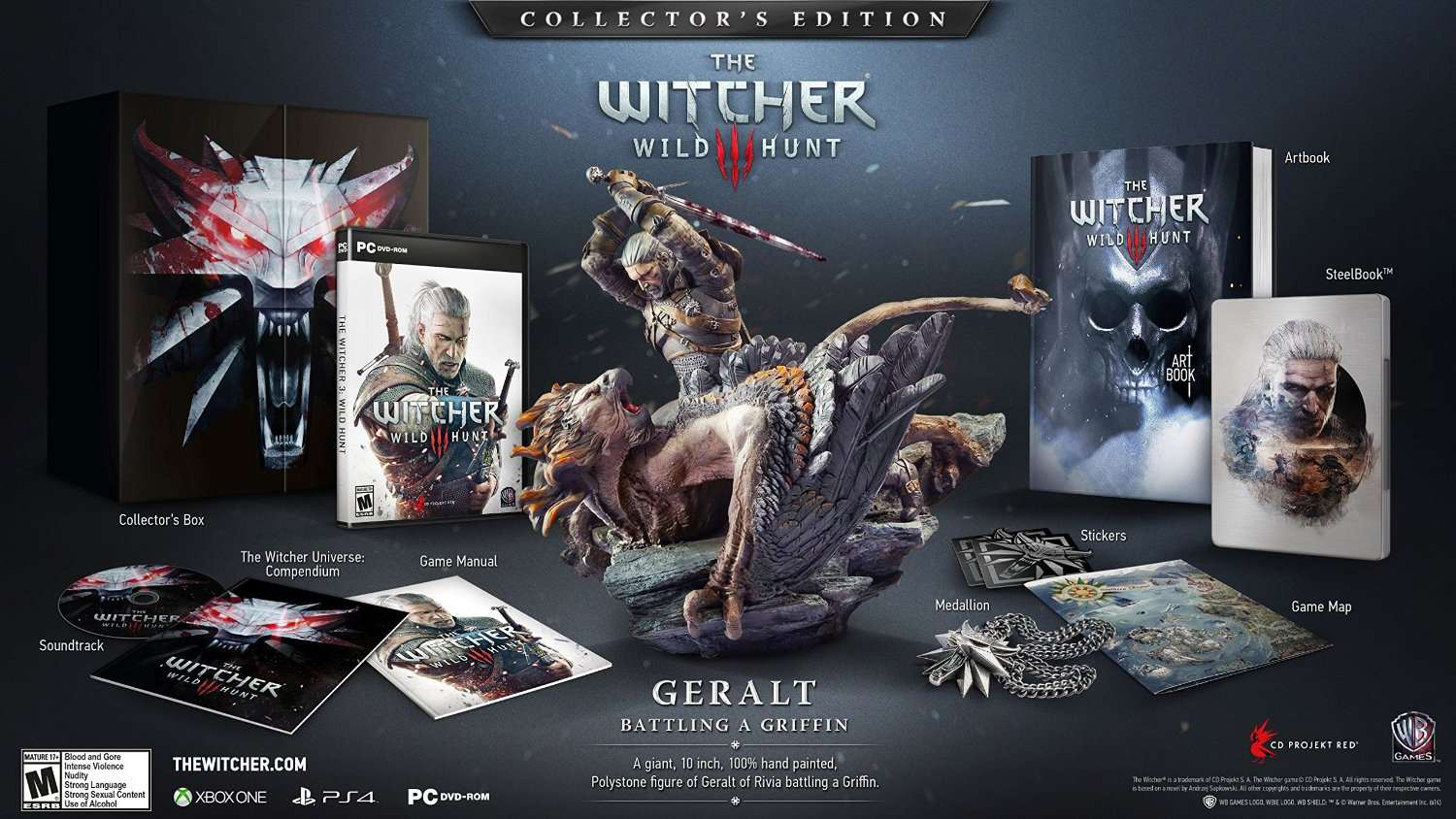 The Witcher 3 Wild Hunt Collector's Edition Box & Contents