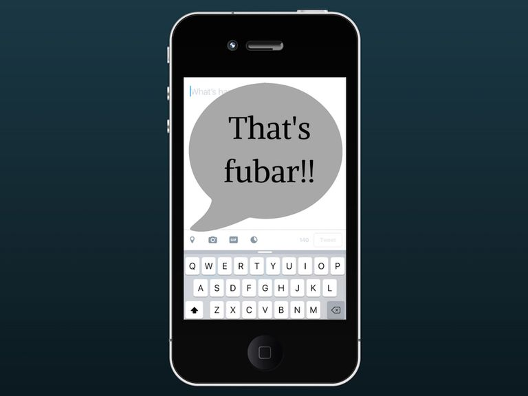Illustration of That's FUBAR on an iPhone
