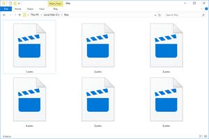Screenshot of WMV files in a folder