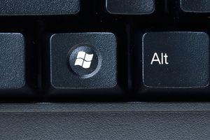 Close up of the windows key and alt key