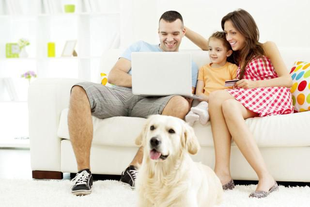 Family Sharing a Home Computer