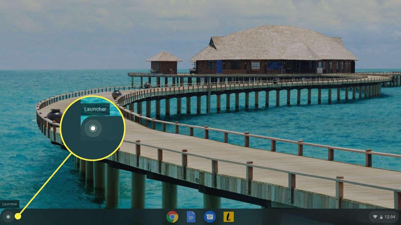 The App Launcher on a Chromebook
