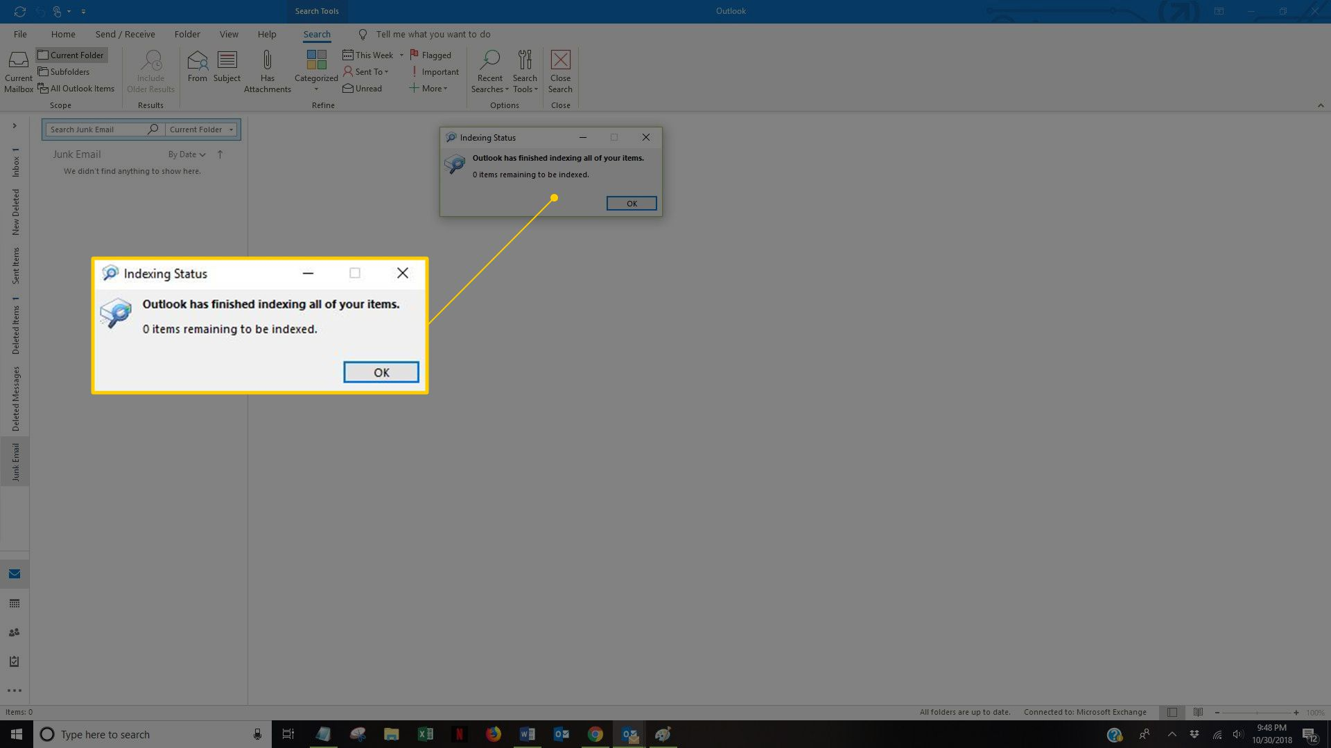 How to Fix Outlook Search Function Not Working