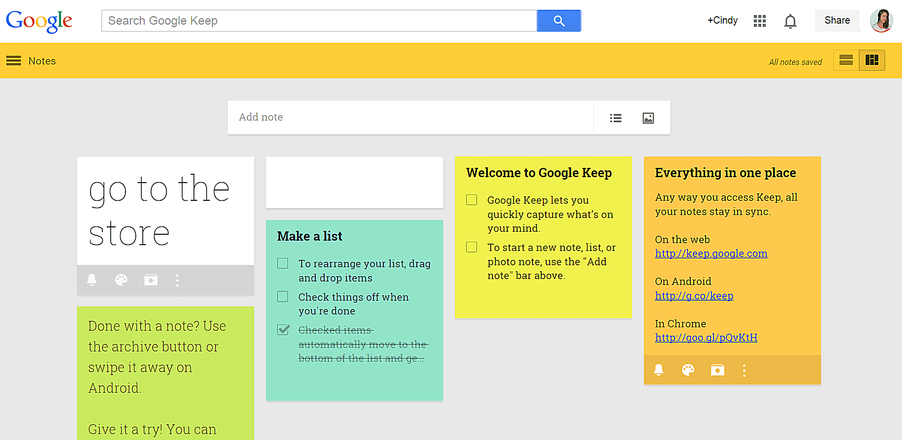 Image result for google keep note