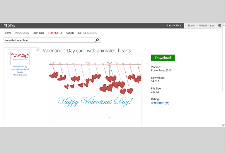 Free valentines day templates for ms office animated hearts valentines day card template for microsoft powerpoint toneelgroepblik Images