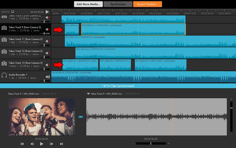PluralEyes footage editing software