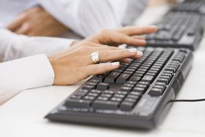 Hand typing in keyboard shortcuts