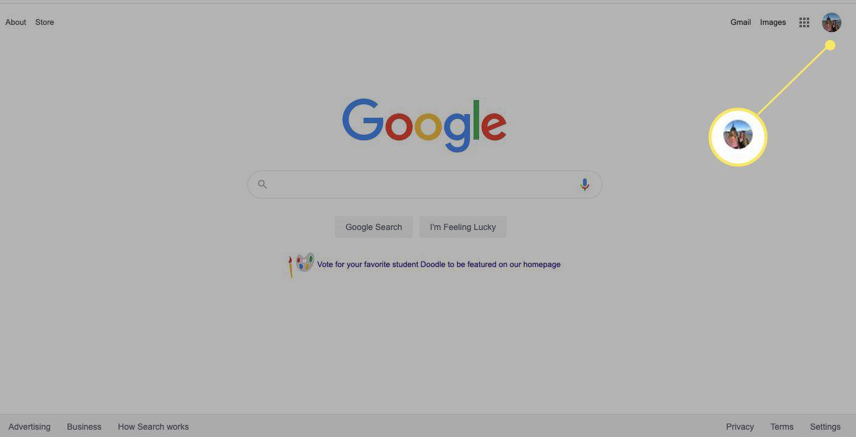 Google profile pic thumbnail on Google search page