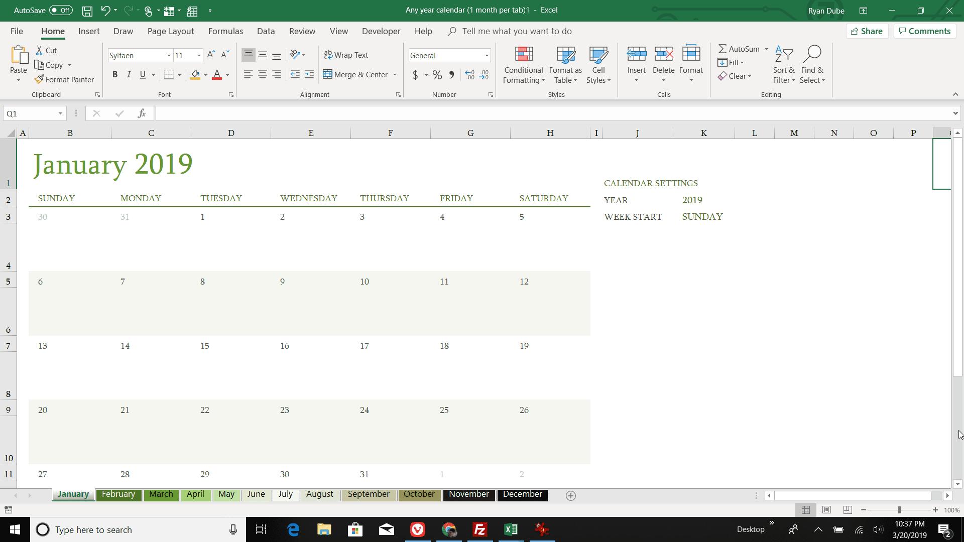 Calendar Excel.How To Make A Calendar In Excel