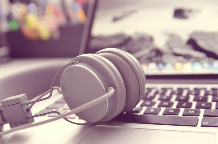 PC Audio Headphones with Laptop