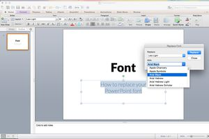 Replace PowerPoint font