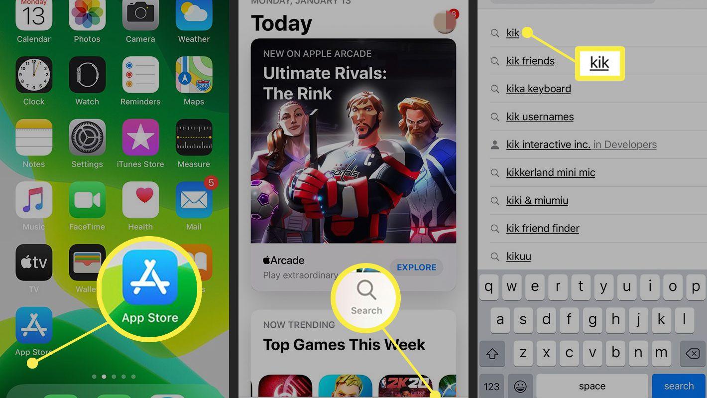 iPhone X Kik auf ipad lesen
