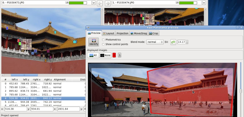 The Hugin GIMP plugin interface.