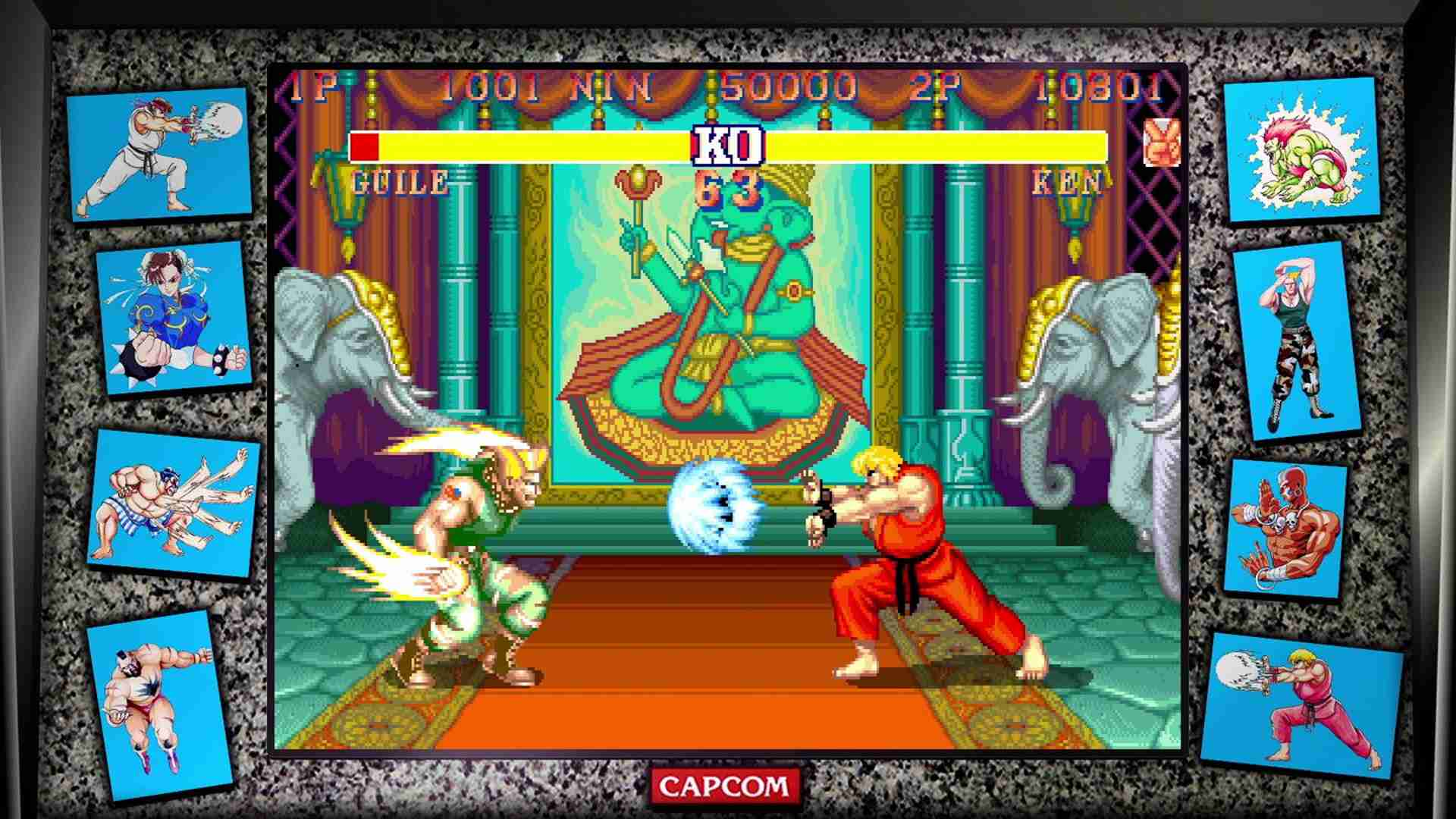 Street Fighter 30th Anniversary Collection video game collection on Xbox One, PlayStation 4, and PC