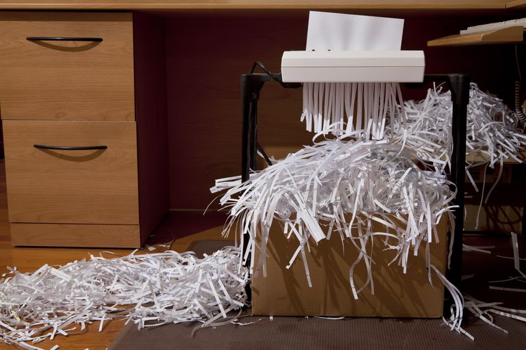 Office with Shredded Documents