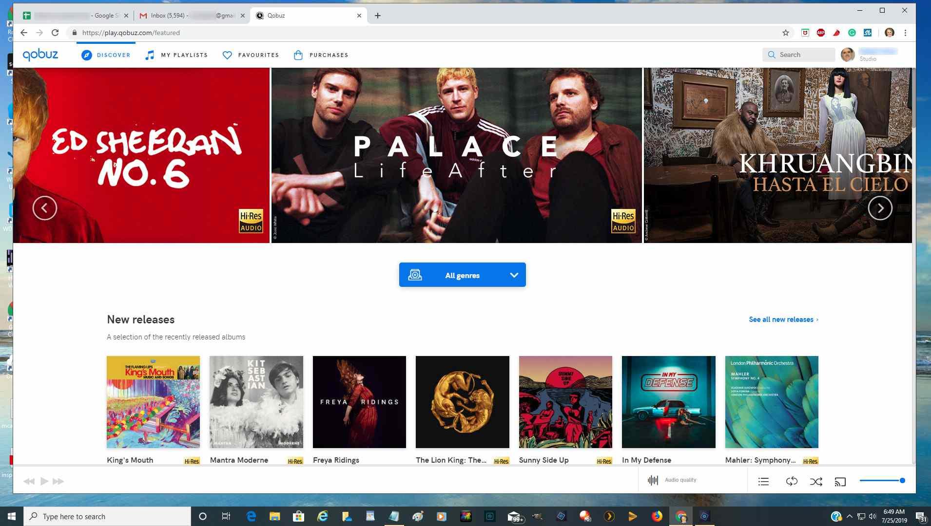 Qobuz WebPlayer Example