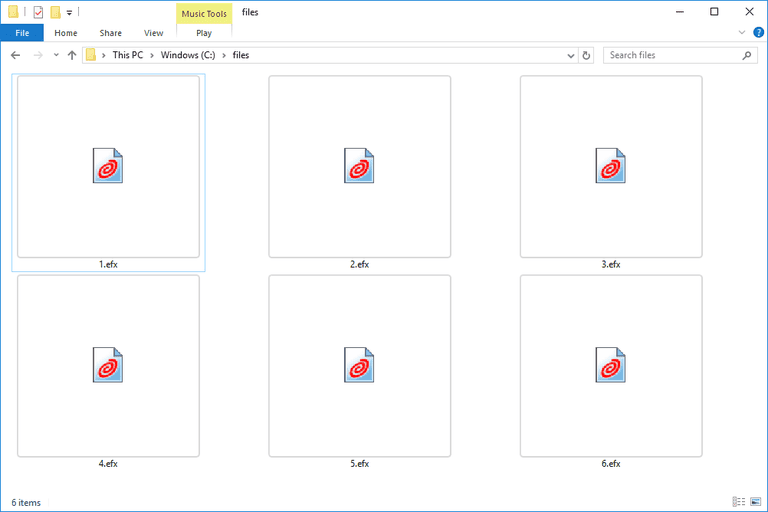 Screenshot of several EFX files in Windows 10 that open with eFax Messenger