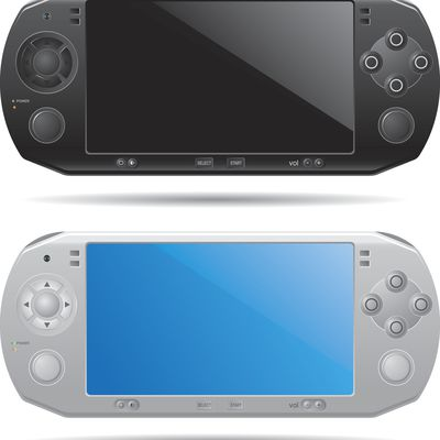 Black and white versions of the PSP