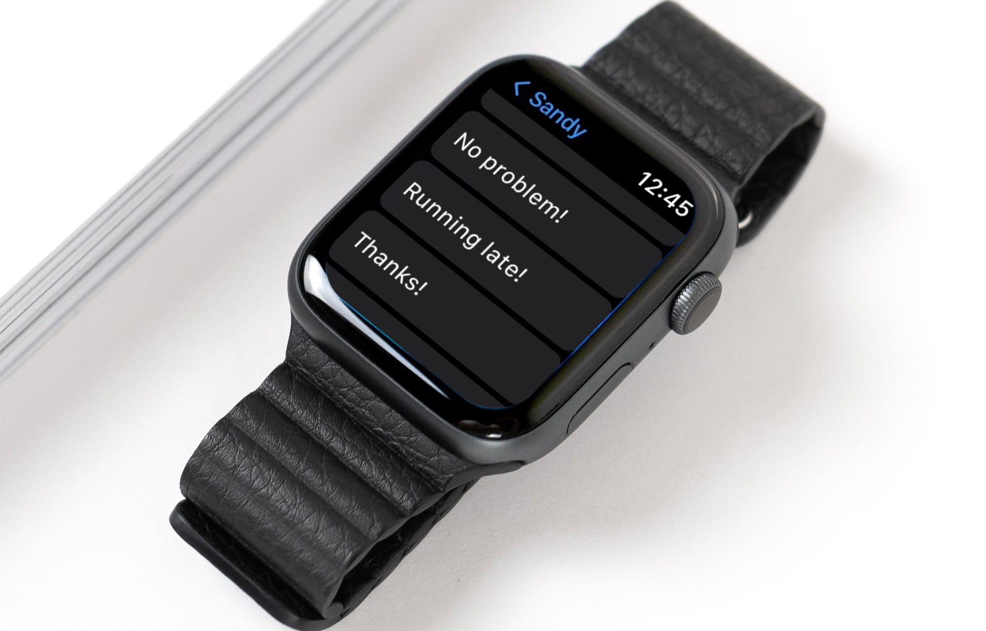 Custom reply in response list on Apple Watch