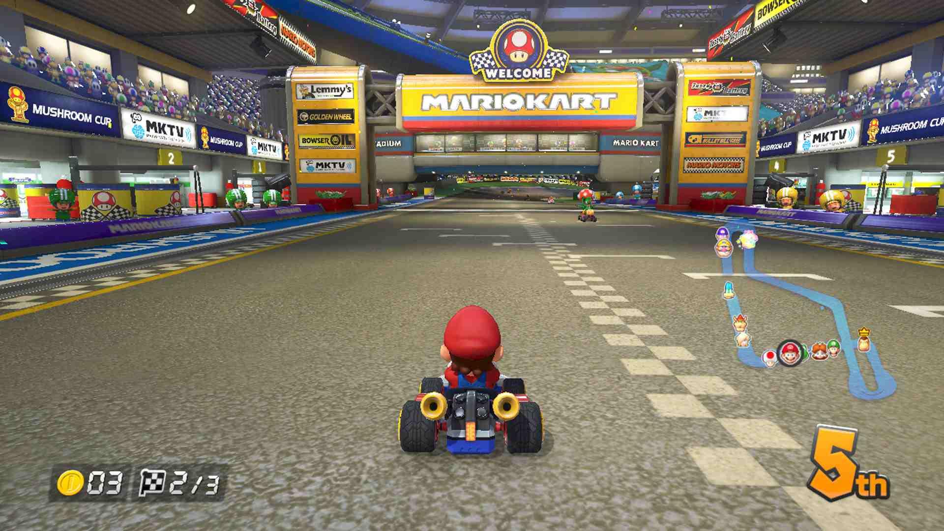 Mario Kart 8 onscreen map