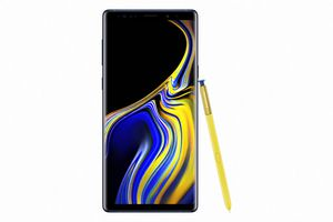 Samsung Galaxy Note 9 with yellow S Pen
