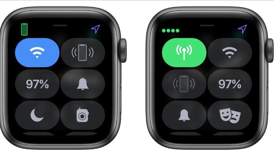 Apple Watch Control Center options