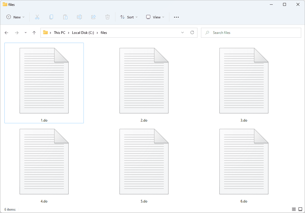 DO files used with Notepad in Windows 11