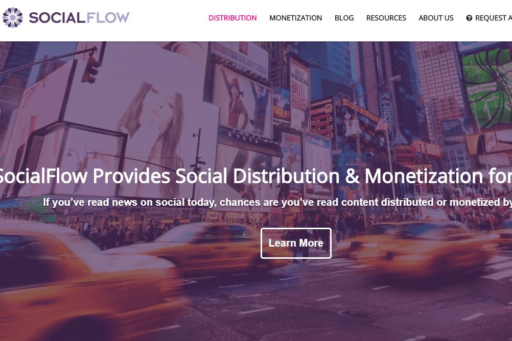 Social Flow website