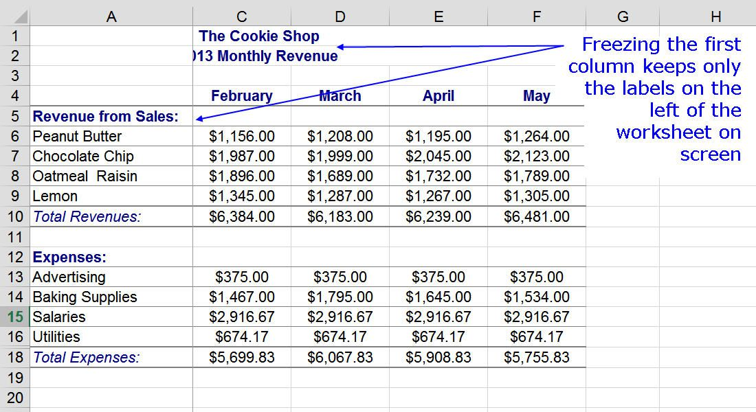 how to change column headings in excel 2013