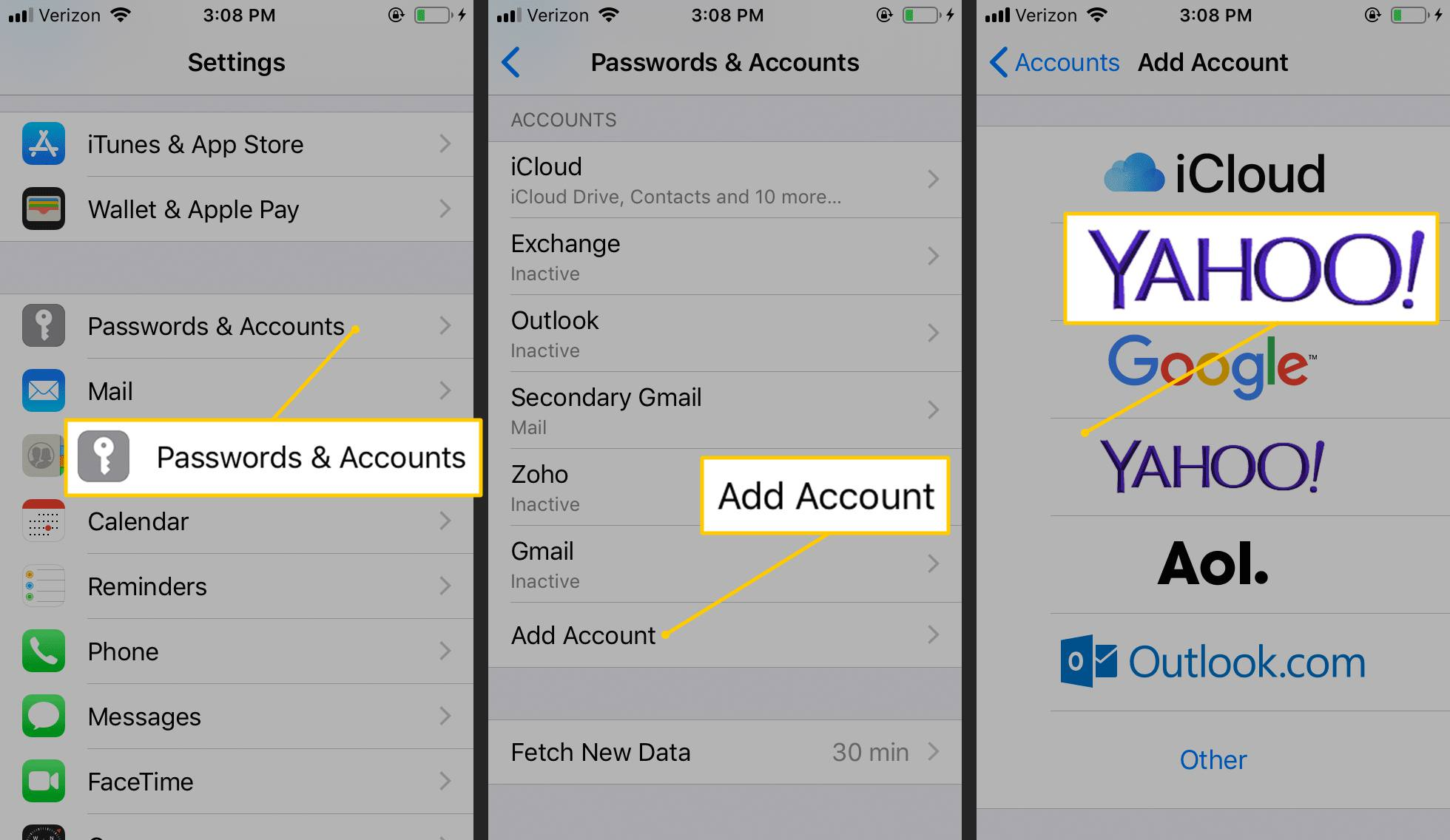 How to Set Up Yahoo Mail on iPhone Yahoo Maps And Driving Directions Url on bing maps driving directions, ct maps and driving directions, galaxy maps and driving directions, point a to b directions, mapquest step by step directions, draw a map for directions,