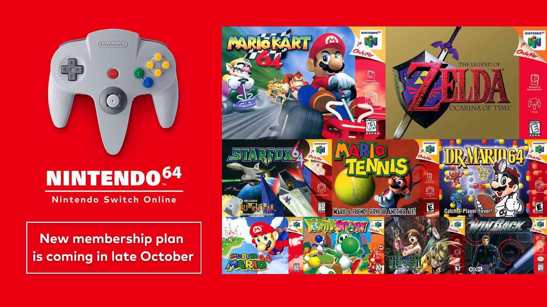 Nintendo Switch Online's new N64 membership plan