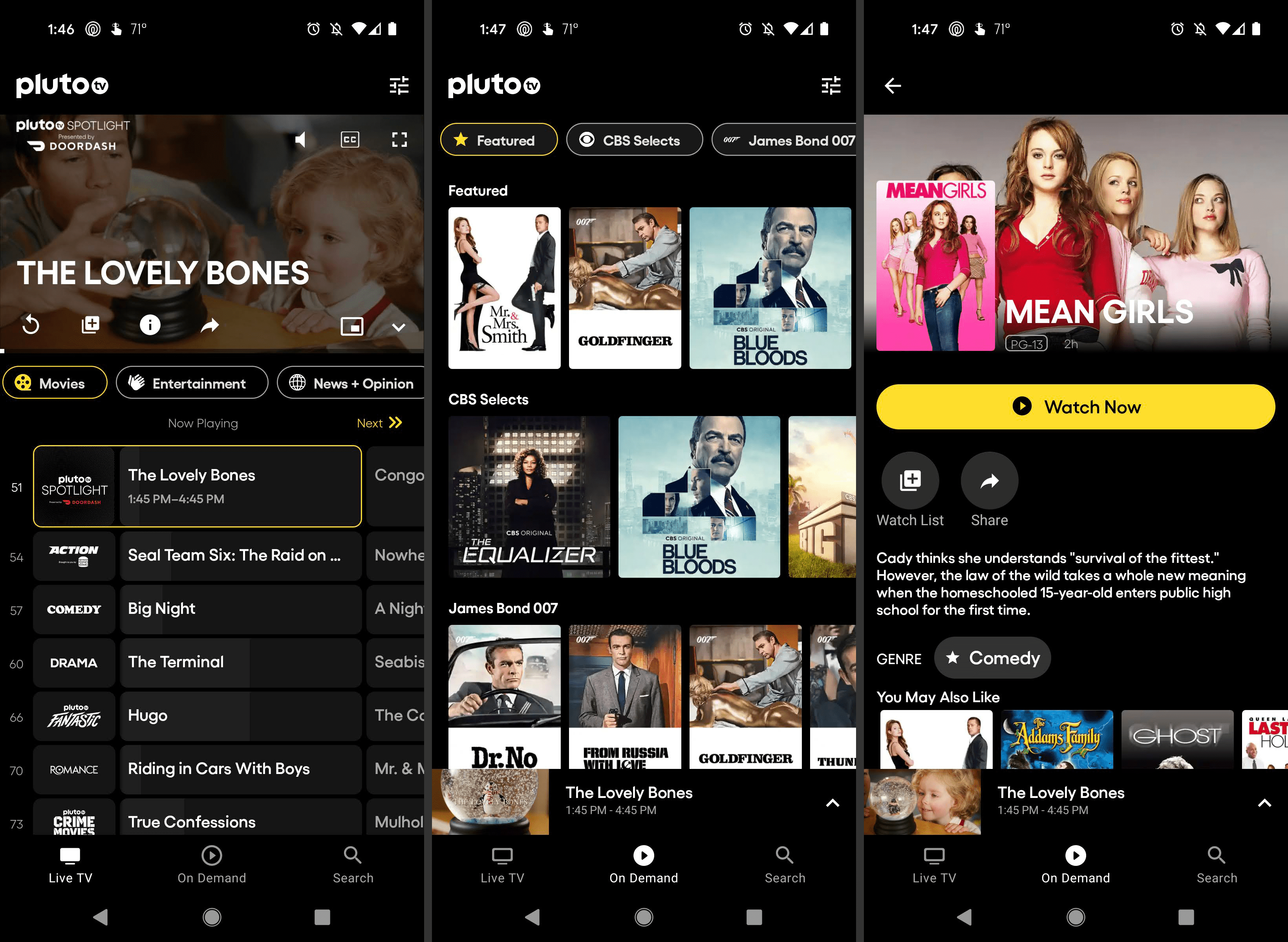 Pluto TV free movie app for Android