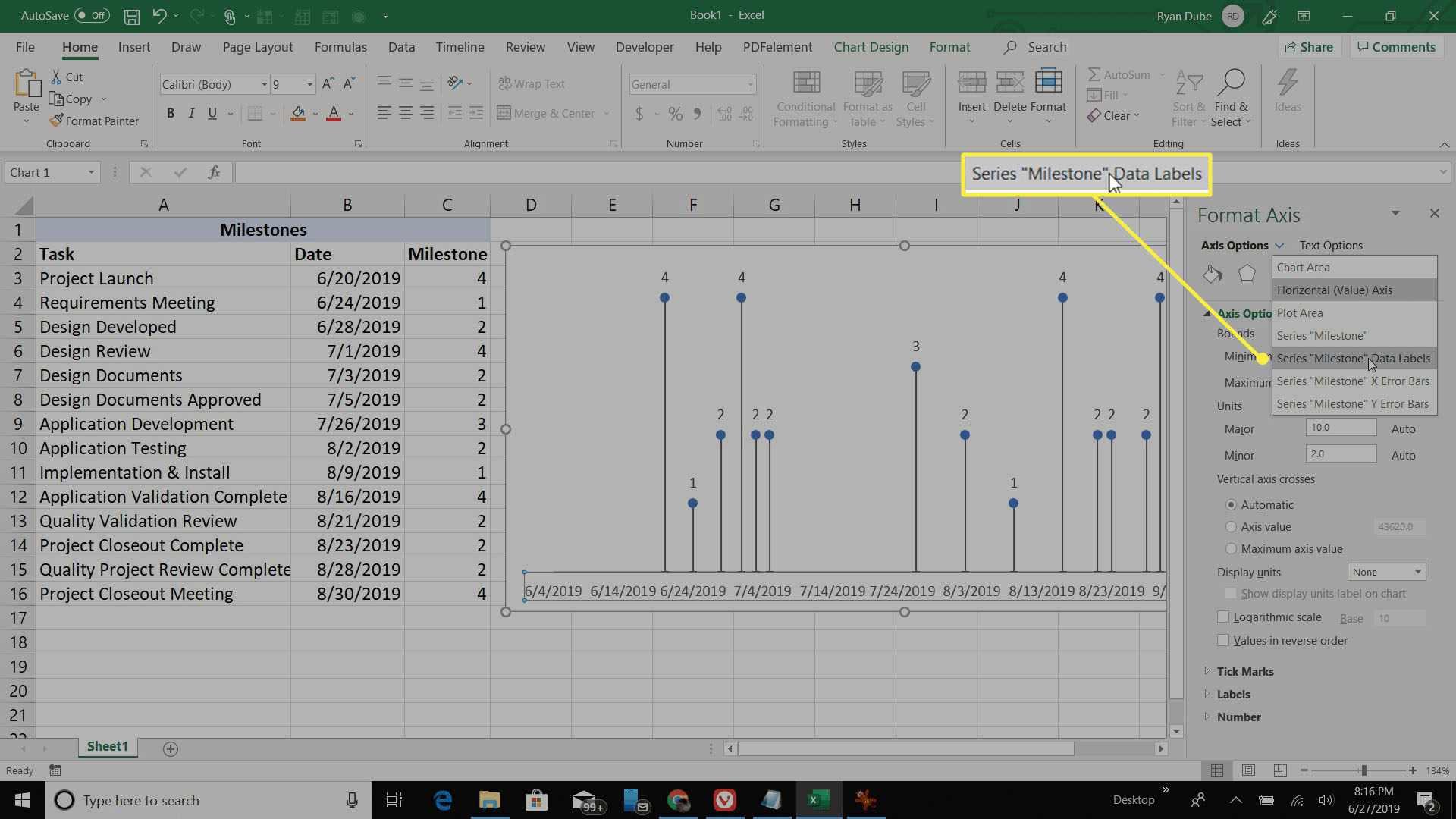 setting Data Label Range