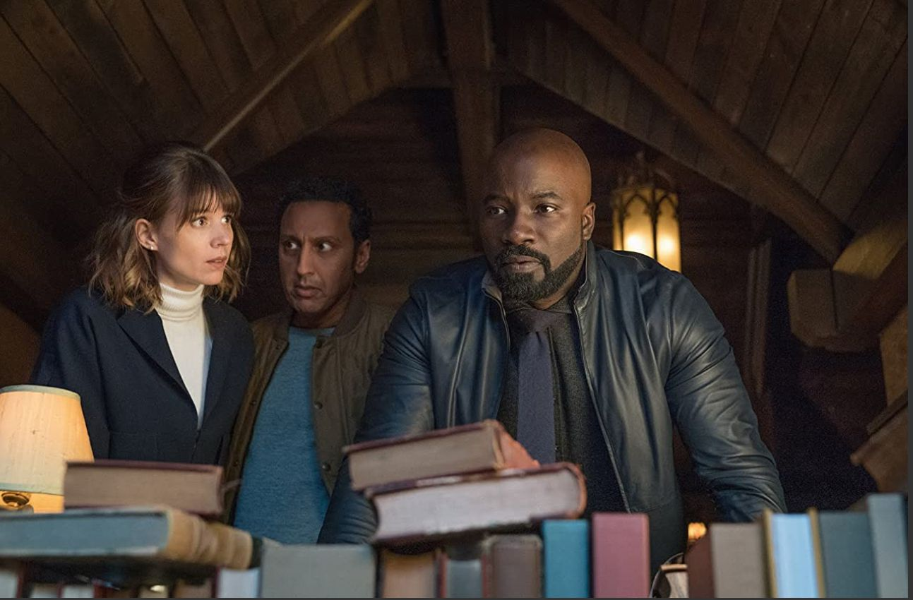 Aasif Mandvi, Katja Herbers, and Mike Colter in 'Evil.'