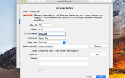 Using the Mac Security Preference Pane