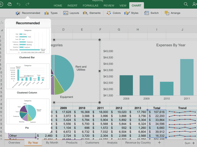 Screenshot of Excel