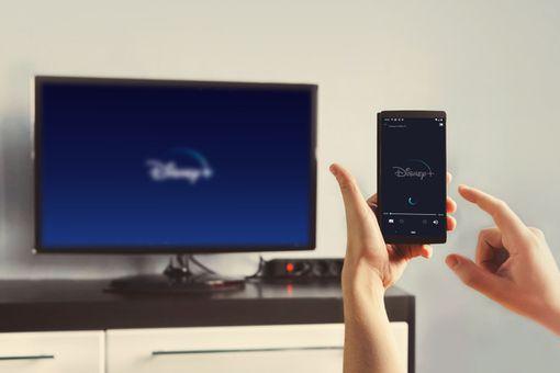 Connecting Disney Plus to Chromecast.