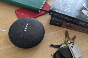 Finding an iPhone with Google Assistant on a Nest speaker
