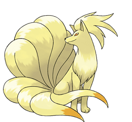 Ninetales - Ken Sugimori's Official Artwork