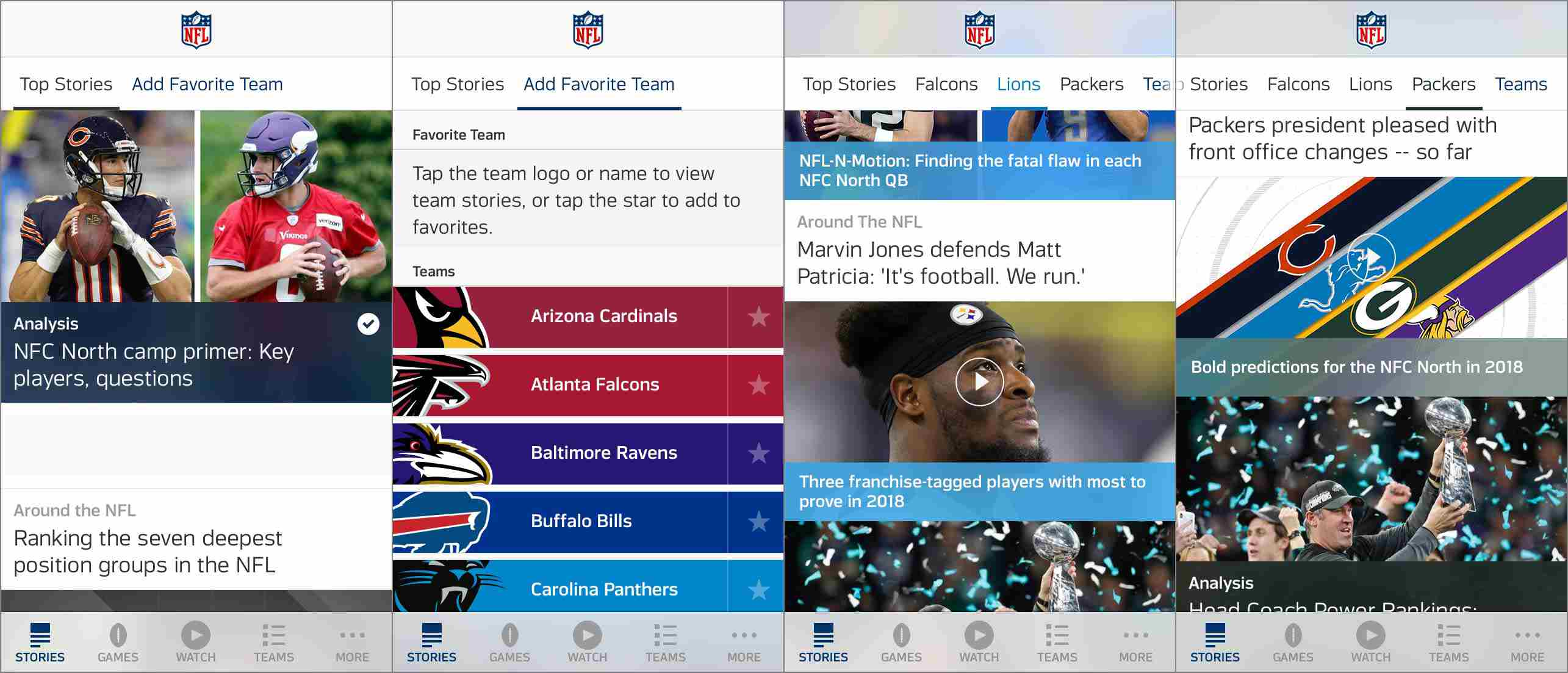 f80abdc18f8 Screenshot of NFL stories in the iPhone NFL app