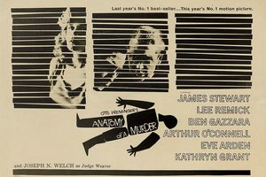Anatomy of a Murder poster, designed by Saul Bass