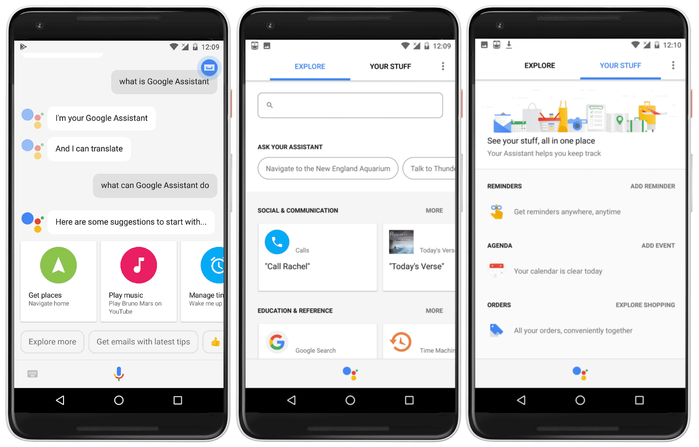 Using Google Assistant with Google Lens.