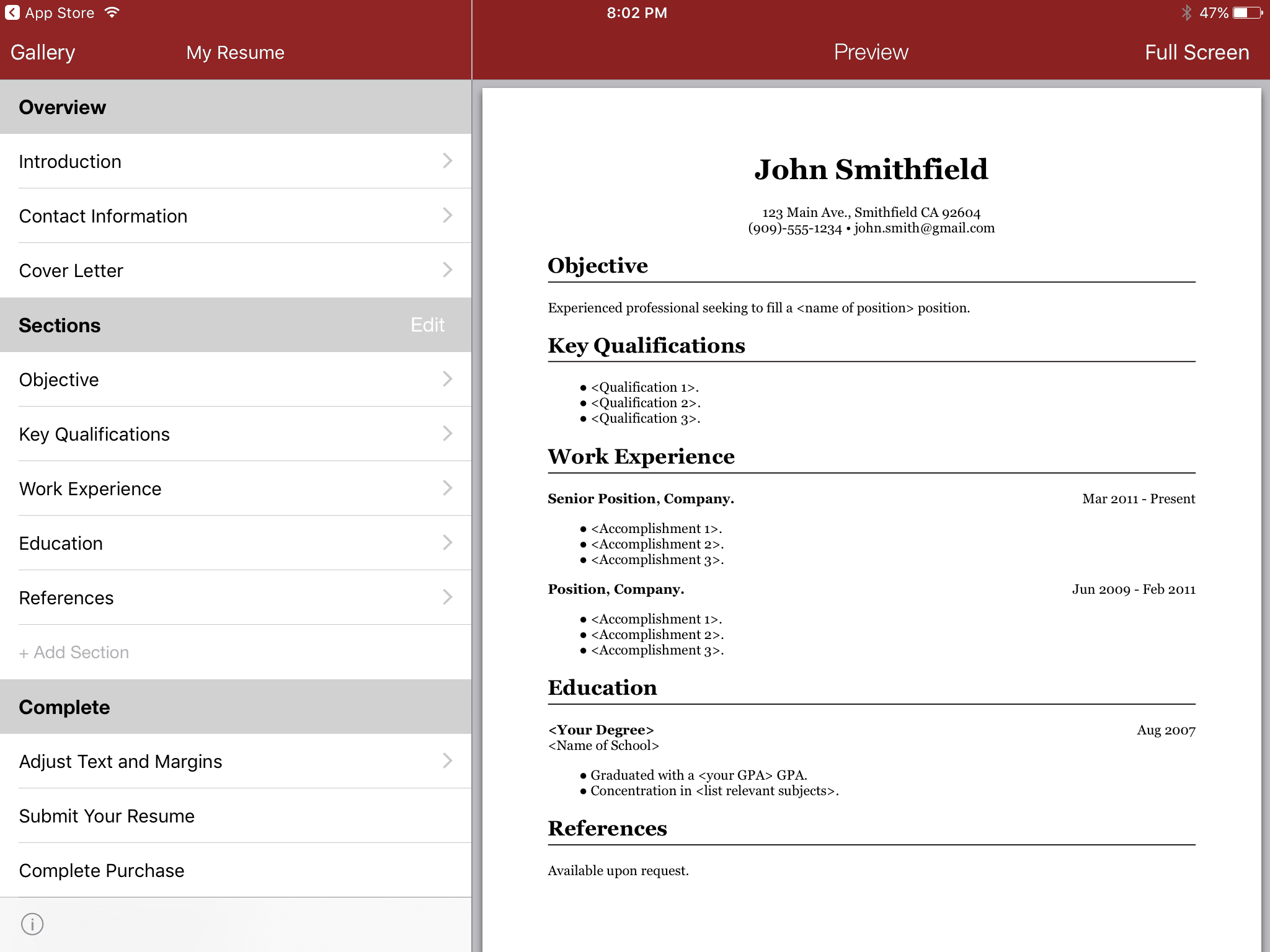 8 Cheap Or Free Resume Builder Apps