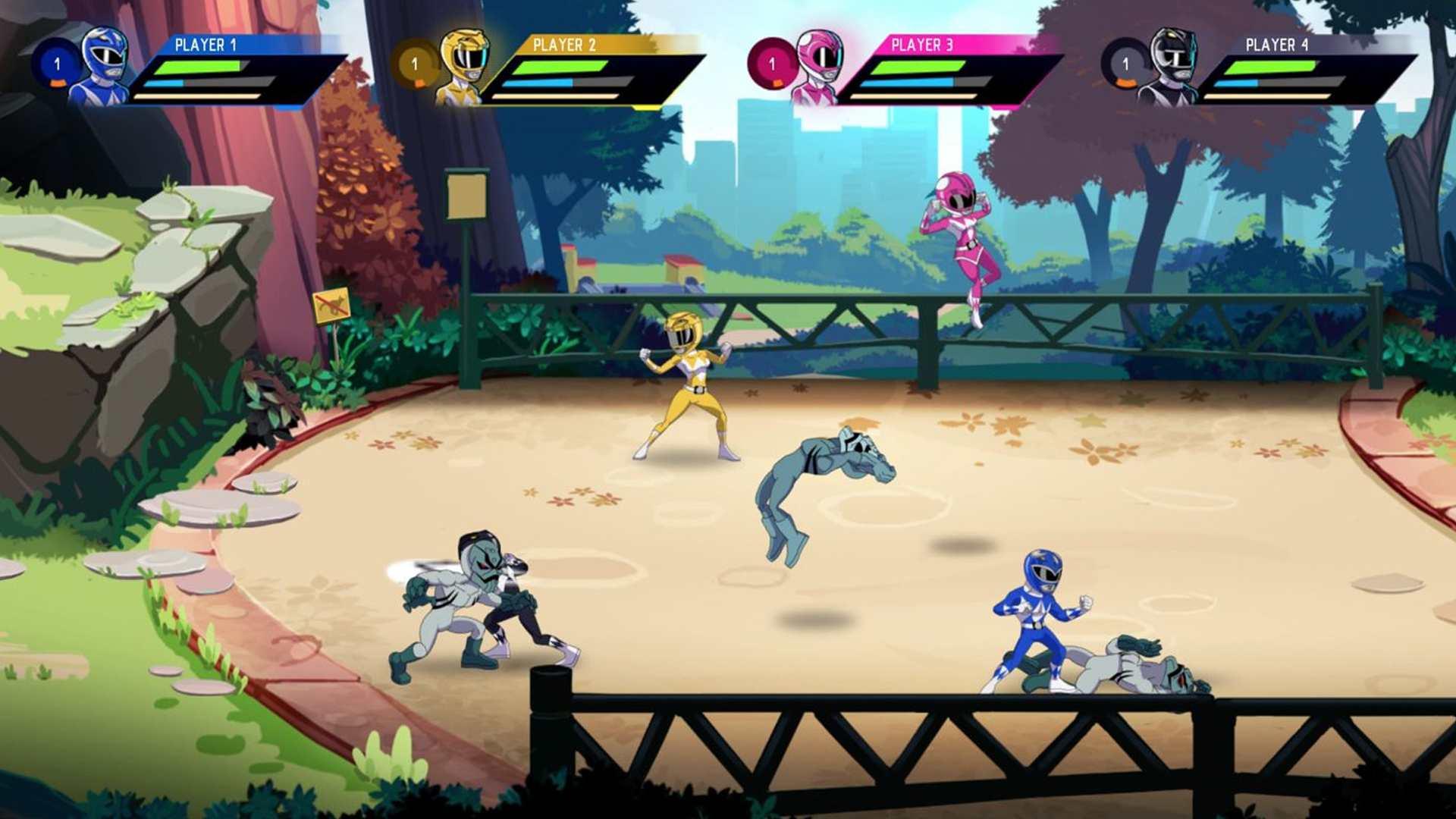 Saban's Mighty Morphin Power Rangers: Mega Battle offline video game for kids.