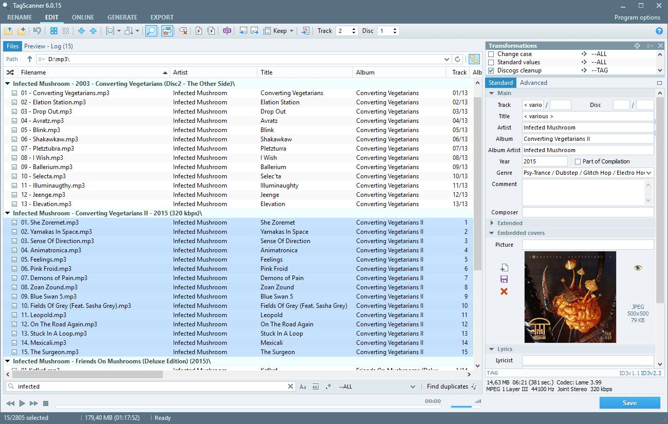 Screenshot of TagScanner