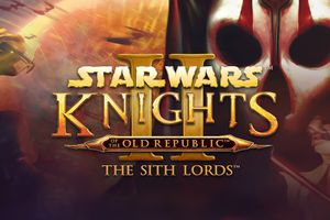 A screenshot of the cover art for Star Wars Knights of the Old Republic: The Sith Lords